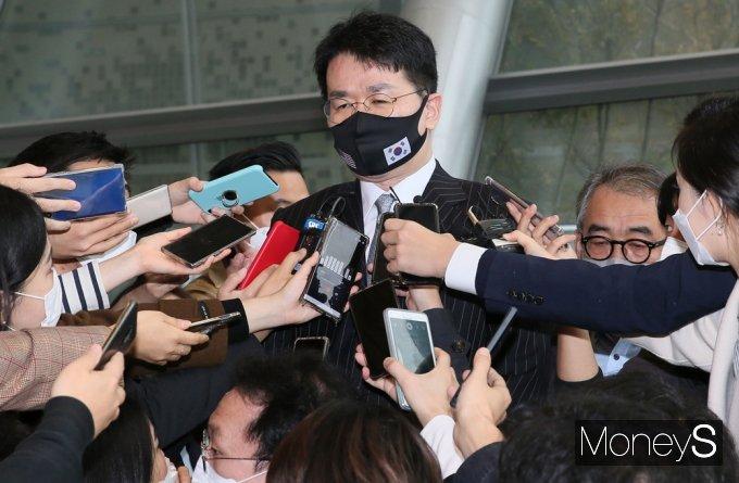 조원태 한진그룹 회장은 아시아나항공 합병 시 구조조정은 없다고 밝혔다. /사진=임한별 기자
