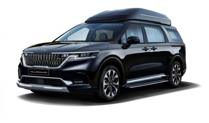 기아차가 최근 선보인 카니발 하이리무진 가솔린 모델. /사진제공=기아차