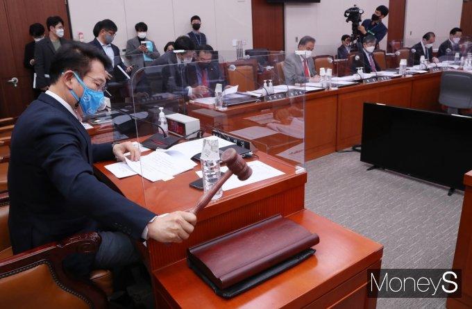 [머니S포토] 국회 외통위 회의 주재하는 송영길 위원장