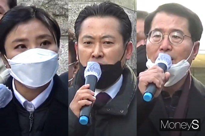 왼쪽부터 김소연, 장동혁, 양홍규 변호사. /사진=김종연 기자