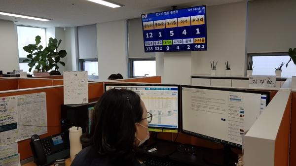 김포시 민원콜센터 전화상담 서비스의 이용 만족도가 93%로 나타나 시민들로부터 높은 호응을 받고 있는 것으로 나타났다. / 사진제공=김포시