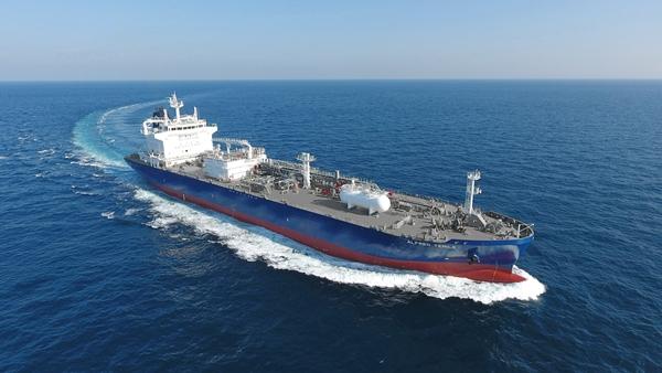현대미포조선이 건조한 LPG운반선. /사진=한국조선해양