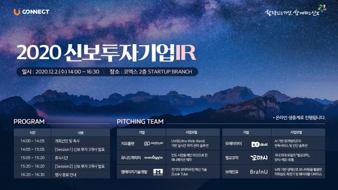 신용보증기금은 지난 2일 서울 삼성동 코엑스에서 '2020년 신보 투자기업 IR'을 개최했다./사진=신보