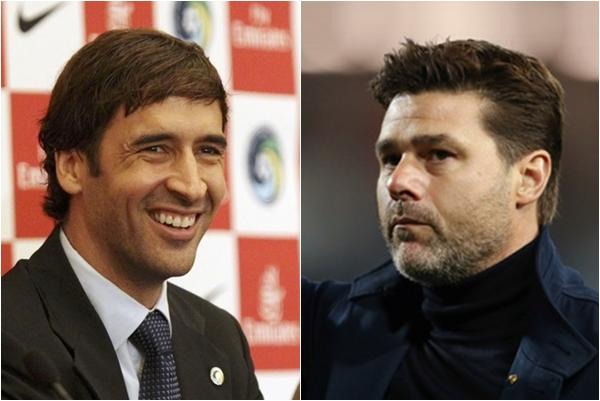 라울 곤잘레스(왼쪽) 레알 마드리드 카스티야 감독과 마우리시오 포체티노 전 토트넘 홋스퍼 감독은 차기 레알 마드리드 감독 후보로 가장 유력히 거론된다. /사진=로이터