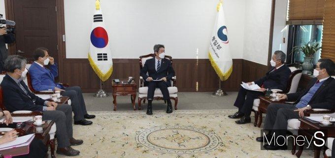 [머니S포토] 통일부-북민협, 남북 인도협력 논의