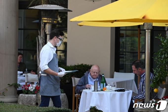 미국의 한 레스토랑 © AFP=뉴스1