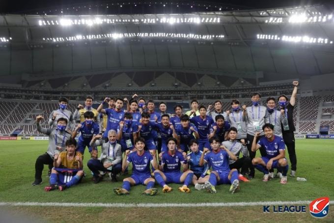 수원삼성이 ACL 16강 진출에 성공했다. /사진=프로축구연맹
