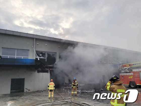 6일 강원 춘천 레고랜드 테마파크 건설 현장에서 화재가 발생했다. /사진=뉴스1