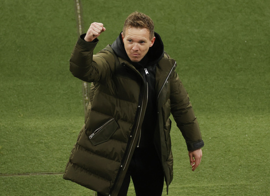 율리안 나겔스만 RB라이프치히 감독이 맨체스터 유나이티드전에서 당한 2개의 실점에 문제를 제기했다. /사진=로이터