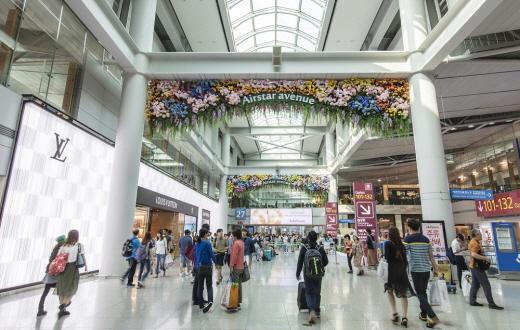 코로나19가 확산되기 전 제1여객터미널 면세점 구역 사진. /사진제공=인천공항공사