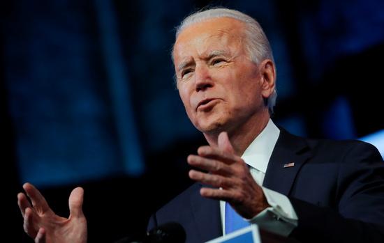 조 바이든 미국 민주당 대선 후보가 14일(현지시간) 제46대 미국 대통령에 공식 당선됐다. /사진=로이터