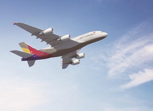 아시아나항공이 A380 항공기로 진행하려던 무착륙 해외 관광 상품을 취소했다. /사진제공=아시아나항공