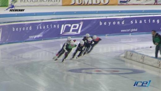 아이스더비인터내셔널이 지난 2월9일 네덜란드 헤렌벤 티알프 스타디움에서 스피드·쇼트트랙 통합매치인 'ICE 1' 시범경기를 선보였다. /사진=아이스더비인터내셔널