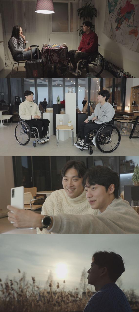 하반신 마비를 겪고 있는 유튜버 박위와 박진희의 남다른 인연이 공개됐다. /사진=SBS 제공