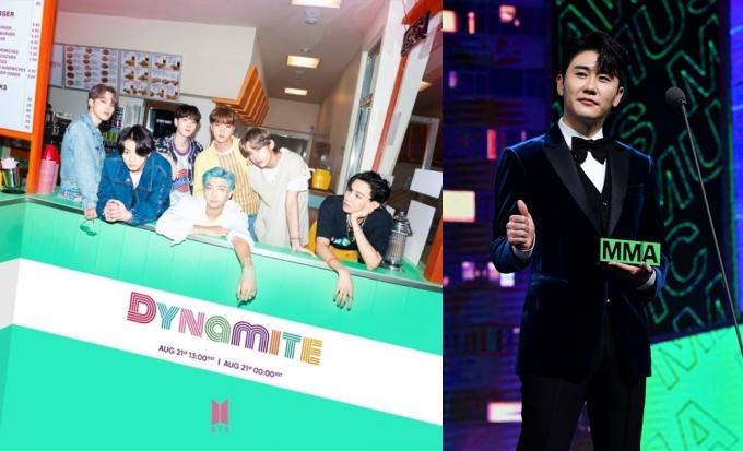 한국 갤럽이 '2020년 최고의 가요'로 방탄소년단(왼쪽)의 '다이너마이트'(Dynamite)와 영탁의 '막걸리 한잔'을 선정했다. /사진=빅히트엔터테인먼트, 뉴스1
