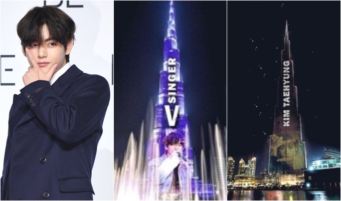 방탄소년단 뷔의 이름이 세계 최고층 빌딩인 두바이 '부르즈 칼리파'에 새겨질 전망이다.  /사진=장동규 기자, 바이두뷔바