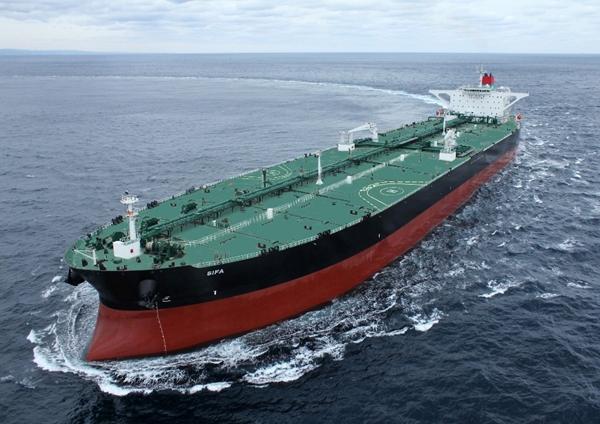 현대중공업이 건조한 초대형원유운반선. /사진=한국조선해양