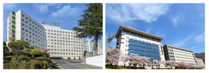 왼쪽부터 대전캠퍼스, 성남캠퍼스. / 사진제공=을지대학교