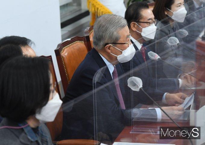 [머니S포토] 김종인 위원장, 비상대책위원회의 발언