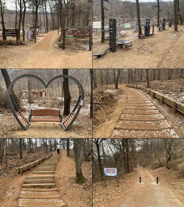 김포시는 최근 가현산(마산동 산89-1번지 일원) 숲길에 산행객의 안전을 위하여 차량통제 볼라드 및 노면안전 시설물(야자매트) 설치를 완료했다. / 사진제공=김포시