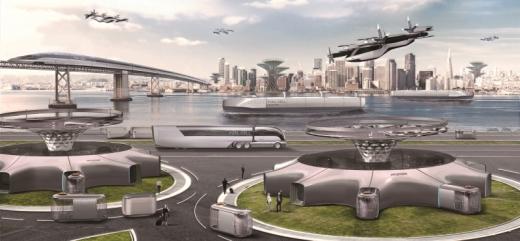 현대차동차가 공개한 미래 교통 상상도. /사진제공=현대자동차