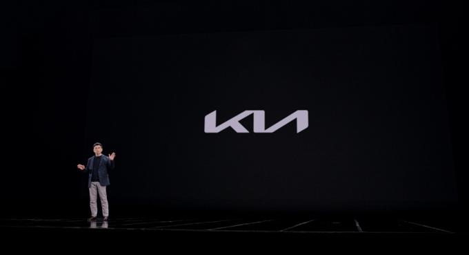 뉴 기아 브랜드 쇼케이스에서 기아 송호성 사장이 발표를 하고 있는 모습. /사진=기아