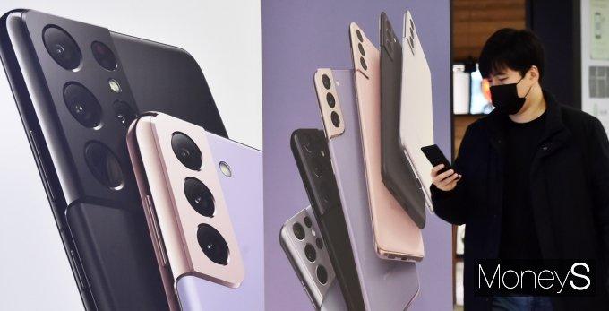 [머니S포토] 베일 벗은 상반기 전략스마트폰 '갤럭시S 21'
