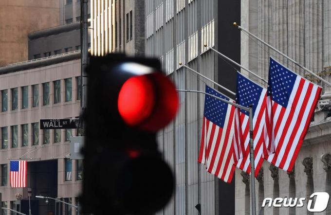 미국 금융중심지 뉴욕 월가 © AFP=뉴스1