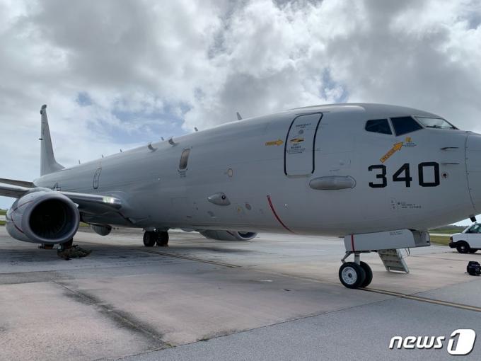 미 해군 7함대사령부는 지난 12일(현지시간)부터 괌 인근 해상에서 미국·일본·호주·인도·캐나다군이 참여하는 다국적 대잠수함 작전 훈련 '시 드래곤'(sea dragon)을 실시 중이라고 밝혔다. 사진은 이번 훈련에 참가한 미 해군 P-8 대잠초계기.(7함대 제공) © 뉴스1