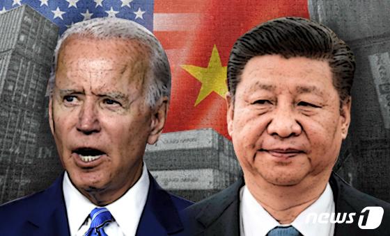 조 바이든 미국 대통령 당선인과 시진핑 중국 국가주석.© News1 최수아 디자이너