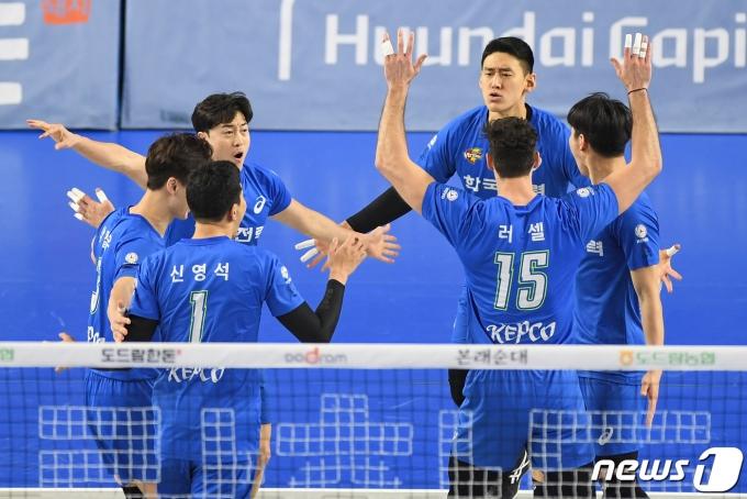 [사진] 한국전력 '득점 성공!'
