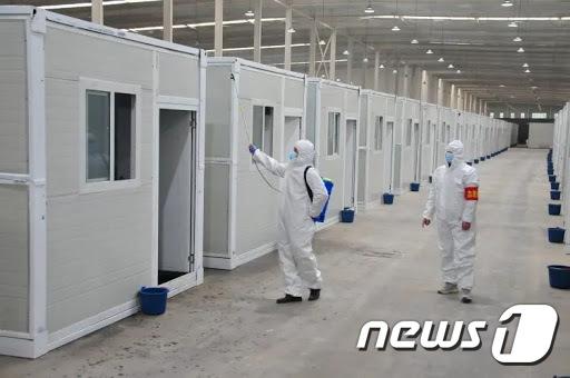 16일 완공된 중국 허베이성 격리시설.  (싱타이 방송국 邢台??台) © 뉴스1