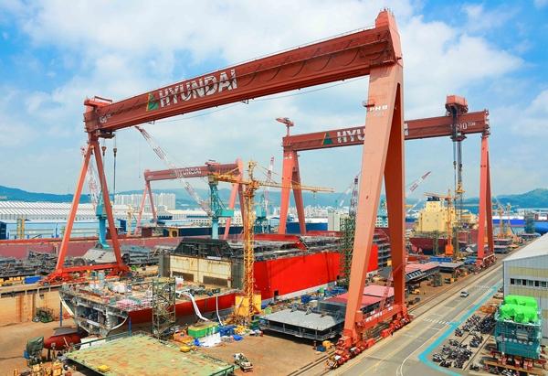 현대중공업 울산조선소. /사진=한국조선해양