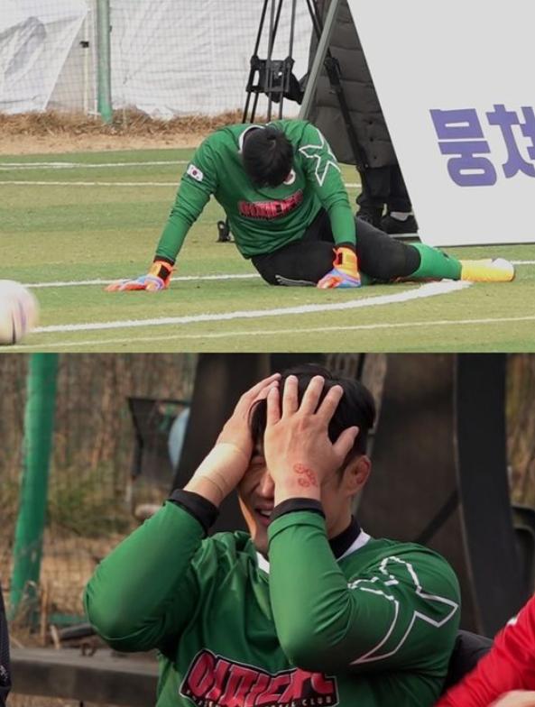 '어쩌다FC'가 서울시의사축구단과 8강전을 치르고 전국대회 4강전에 진출했다. /사진=JTBC제공