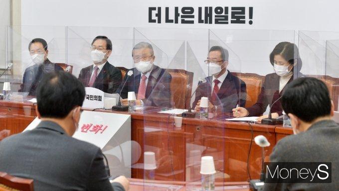 """[머니S포토] 김종인 비대위 """"3차 재난지원금, 소상공·자영업자 손실보전 역부족"""""""