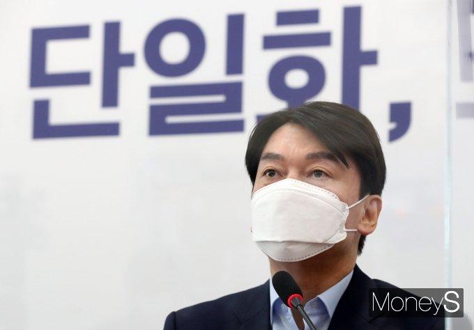 """[머니S포토] 안철수 """"국민의힘 개방형 경선 실시하면 참여"""""""