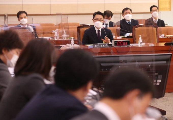 """김진욱, 공수처 위헌 논란에 """"권력분립 원칙 위반 아냐"""""""