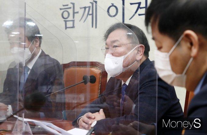[머니S포토] 민주당 김태년 '정부, 설 명절 물가 안정 대응 주문'