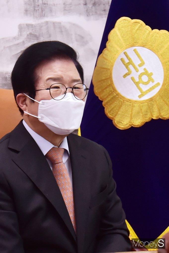 [머니S포토] 남북국회회담 추진 회의, 박병석 의장의 인사말