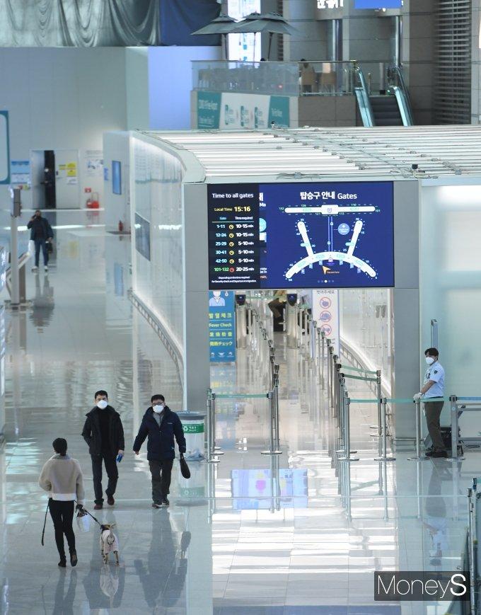 [머니S포토] 한산한 인천공항 출국장