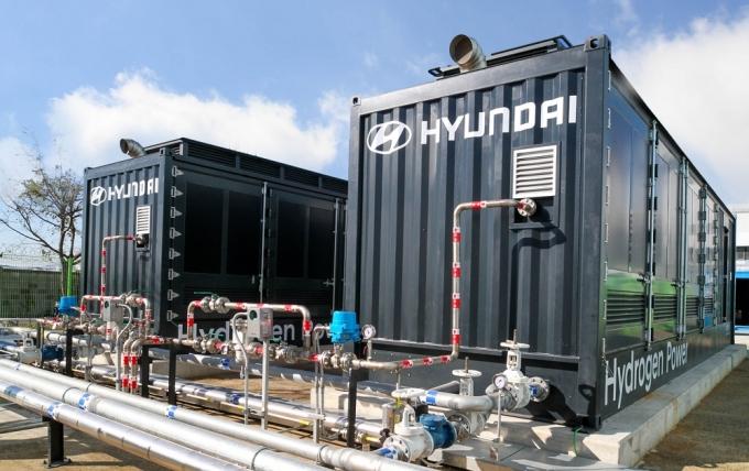 울산 화력발전소 내 위치한 현대자동차의 수소연료전지 발전 시스템 모습./사진=현대자동차