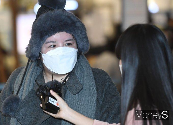 [머니S포토] '입국금지 기간 만료' 에이미, 5년만에 한국 입국