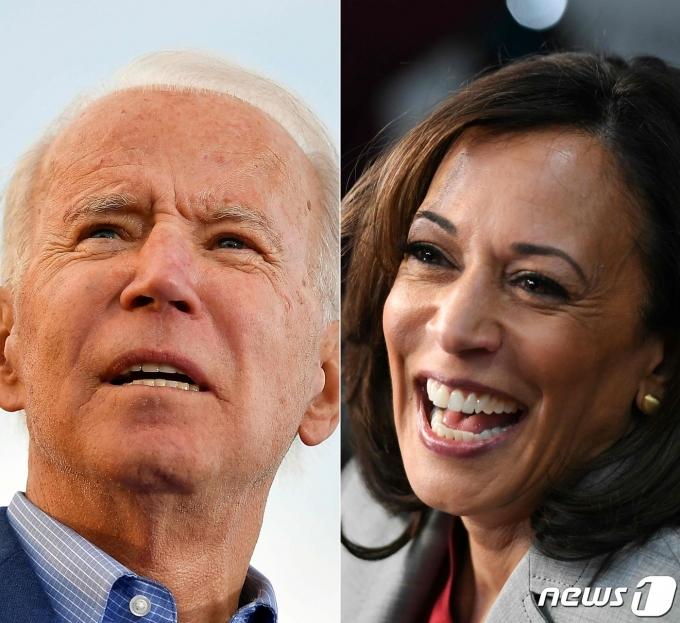 조 바이든 대통령(좌)와 카멀라 해리스 부통령. © AFP=뉴스1