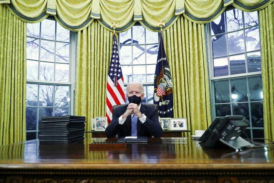 조 바이든이 미국 제 46대 대통령으로 21일(한국시간) 백악관에 입성했다. /사진=로이터