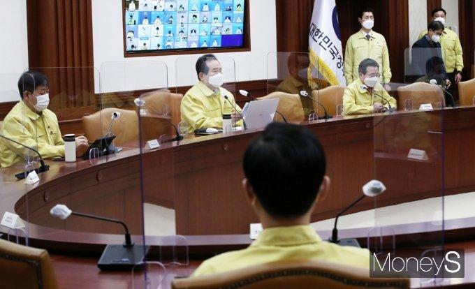 [머니S포토] 유흥시설 영업 금지관련 발언하는 정세균 총리