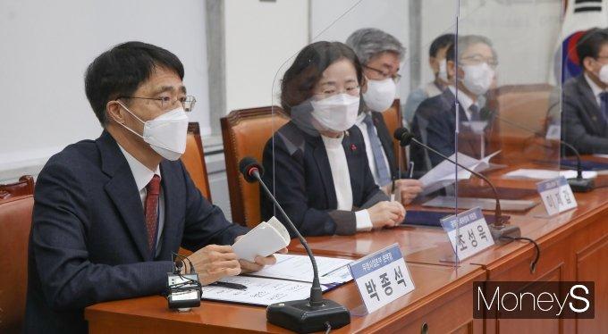 [머니S포토] 박종석 우정사업본부장, 택배종사자 과로대책 관련 발언