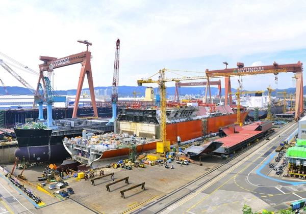 현대중공업 도크 전경. /사진=한국조선해양