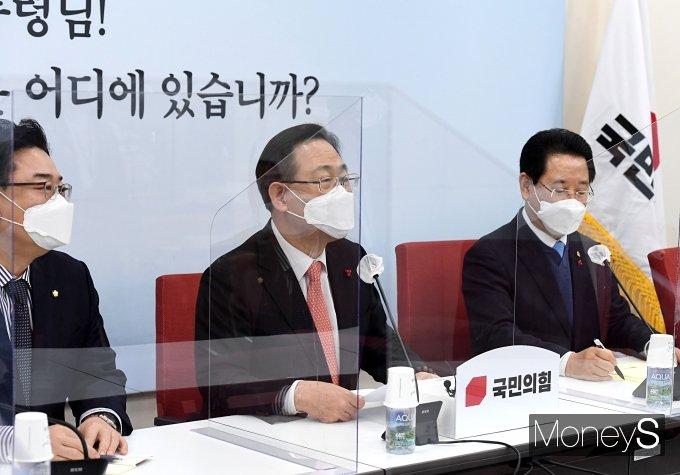[머니S포토] 주호영 원내대표 '전라남도 목소리 듣기 위해'