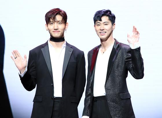 그룹 '동방신기' 멤버 최강창민(왼쪽)과 유노윤호가 Mnet 서바이벌 프로그램 '킹덤'에 MC로 합류한다. /사진=뉴스1
