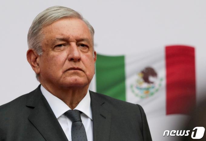 안드레스 마누엘 로페스 오브라도르 멕시코 대통령. © 로이터=뉴스1